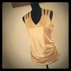Womens Shirt L INC International Concepts Gold